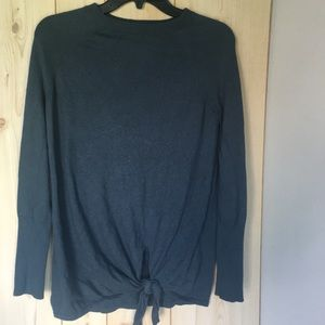 Lauren Conrad Tie front knit top